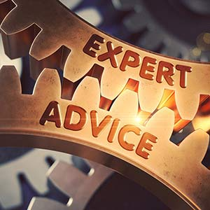 Image of gears suggesting expert advice.